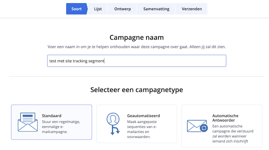 Site Tracking ActiveCampaign Campagne